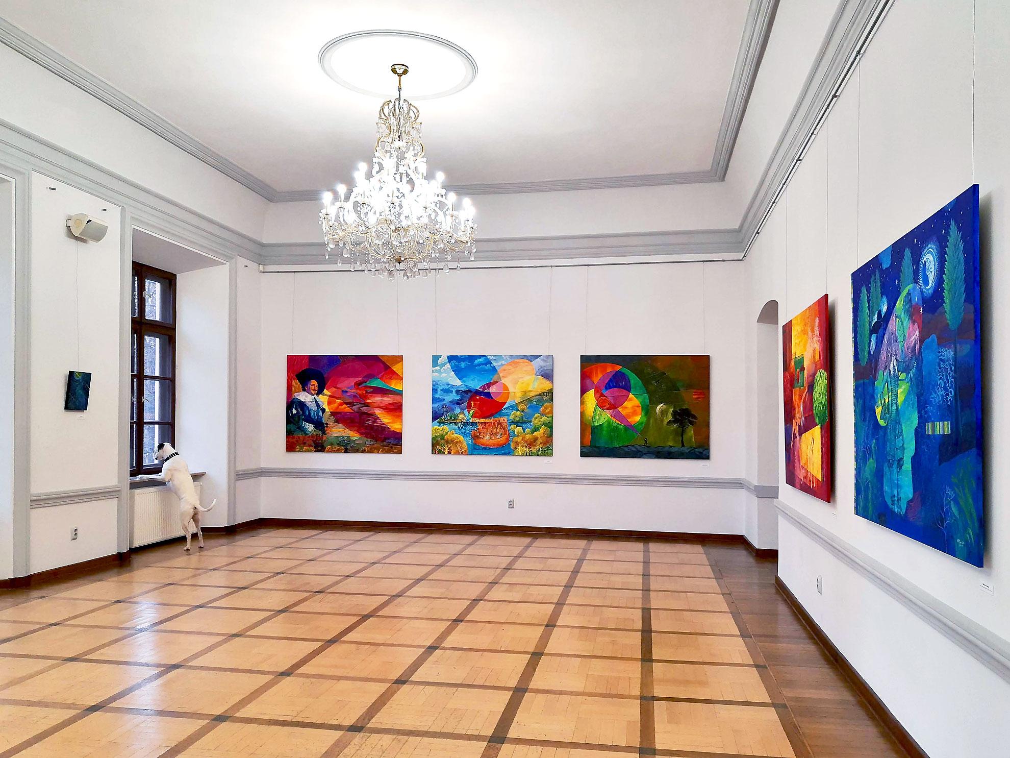 Painting exhibition Barok Dopamina iMeteory Katarzyna Kopanska 2020