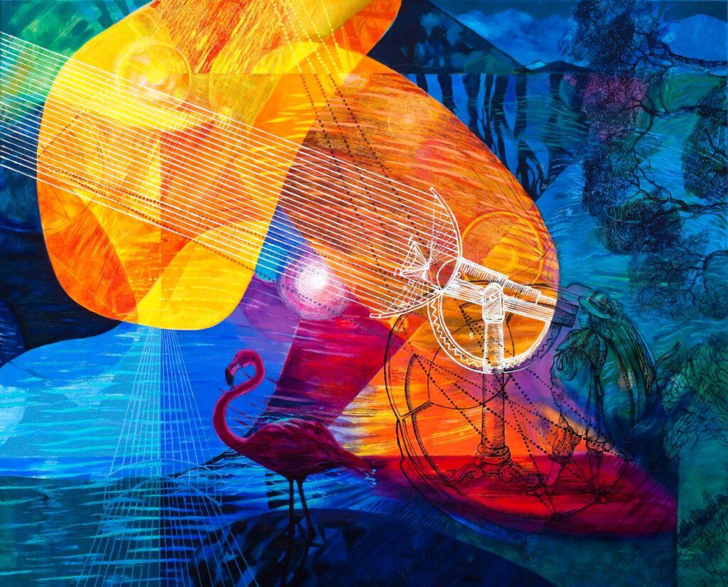 Katarzyna Kopanska, Barok Dopamina iMeteory, 2020, malarstwo, wystawa indywidualna, Galeria Vauxhall Krzeszowice,
